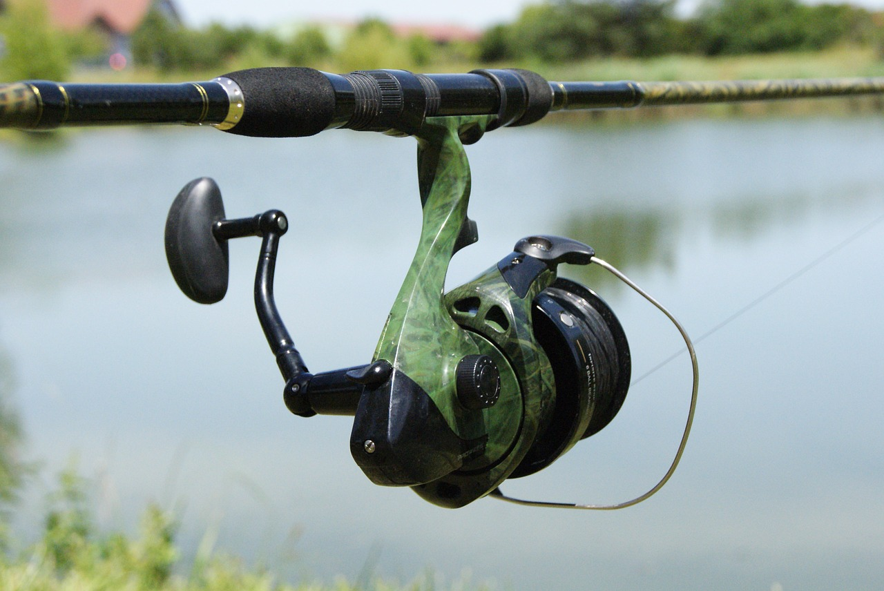 fishing reel pond public domain image - FreeIMG